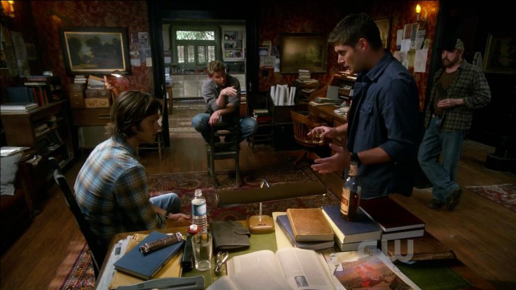Sam, Dean, Bobby and Lucifer