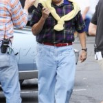 US/AUS/CA/NZ ONLY EXCLUSIVE Jonah Hill wearing huge fake teeth while filming 'The Wolf of Wall Street'