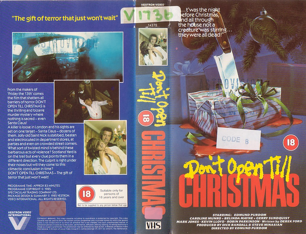 MOVIE OF THE DAY: HOLIDAY EDITION: Don't Open Till Christmas (1984 ...