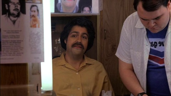 Adrian Grenier in ten years. I'd still take a moustache ride.