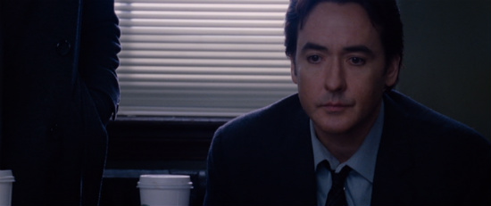 Cusack spends most of the film looking like he's about to snap.