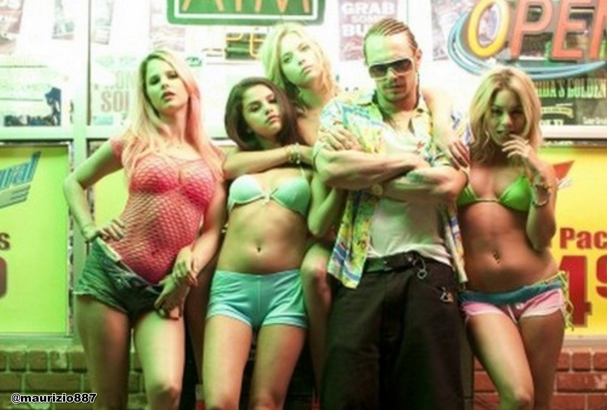This is Harmony Korine's Spring Breakers , and it is brilliant. Oh ...