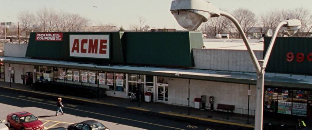 After the death of Marvin Acme, his business never fully recovered.  Image taken moments before the building and the customer both exploded for no reason.