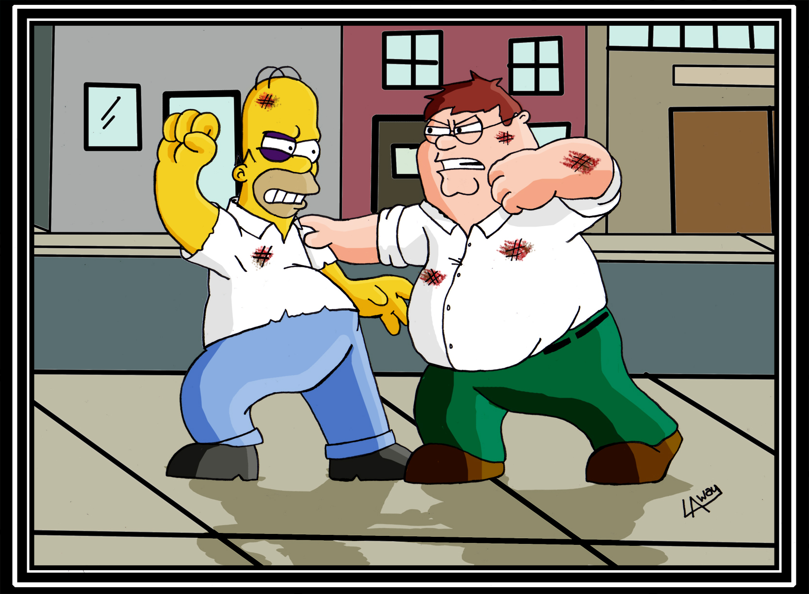 Homer_Vs__Peter_Dream_Fight_by_AngelCrus