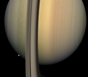 in saturns rings