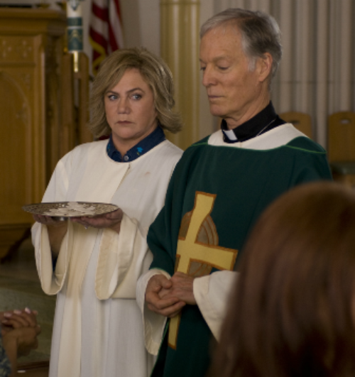 Richard Chamberlain resurrects his role as a priest.
