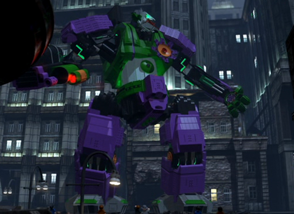 Yes, that is a mech Joker. Yes, it is awesome.
