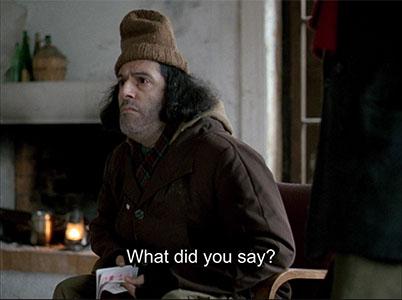 "I said, ""your hat looks fucking stupid""."