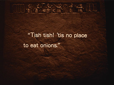 I always pick the worst places to eat onions.